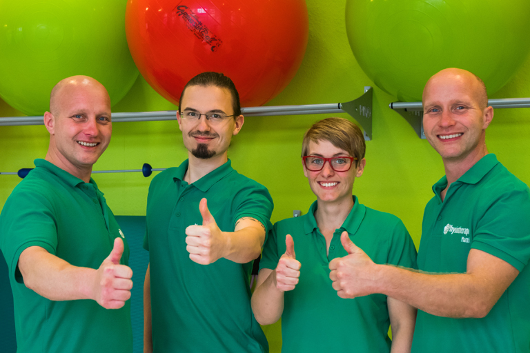 Das Team der Physiotherapie Rocco Mattiß am S-Bhf. in Wildau